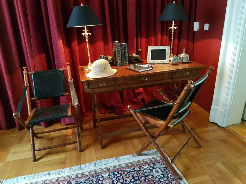 Campaign Desk, Chairs And A Few Acessories | Items For Sale | Prague  Classifieds From Prague.TV